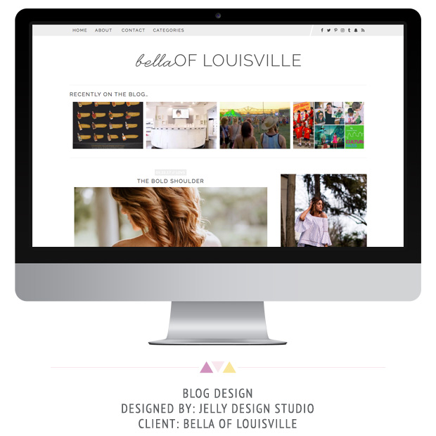 Bella of Louisville WordPress Blog Design by Jelly Design Studio